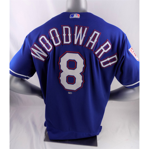 Photo of Team-Issued Spring Training Jersey - Chris Woodward