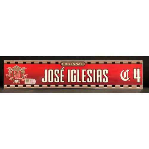Photo of Jose Iglesias -- Game-Used 2019 Regular Season Locker Tag