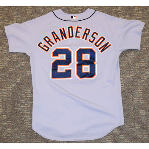 Curtis Granderson Game Worn Detroit Tigers #28 Road Jersey (NOT MLB AUTHENTICATED)