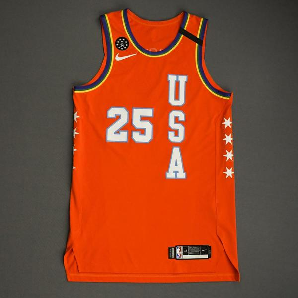 Image of PJ Washington - 2020 NBA Rising Stars - Team USA - Game-Worn 1st Half Jersey
