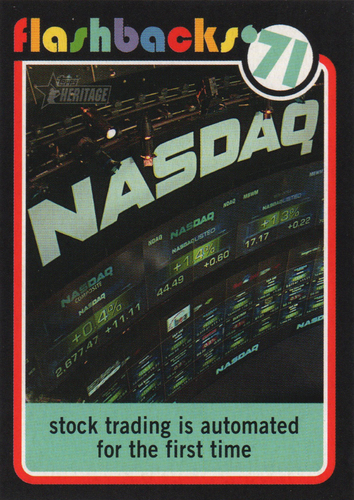 Photo of 2020 Topps Heritage News Flashbacks #NF5 NASDAQ is founded