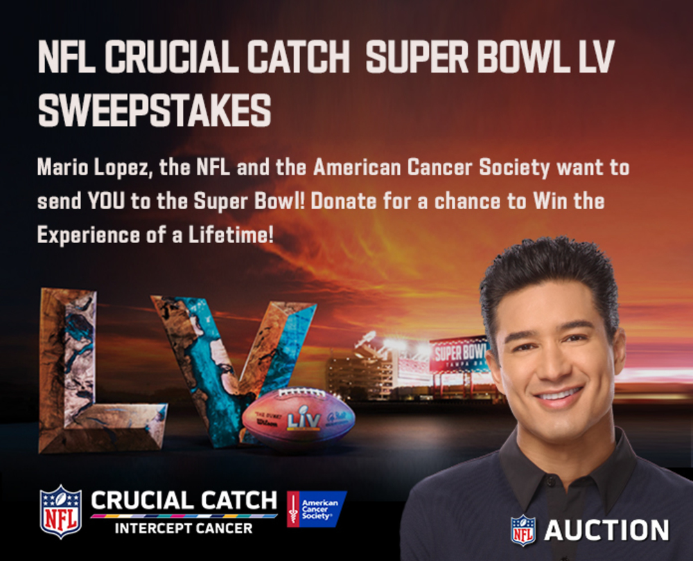 Crucial Catch Super Bowl LV Experience Sweepstakes
