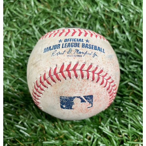 Photo of Game Used Baseball: Pete Fairbanks strikes out Pete Alonso - Top 9 - May 14, 2021 v NYM