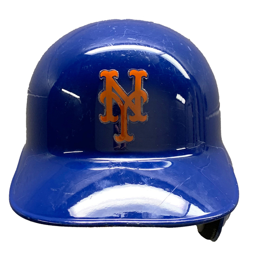 Photo of Seth Lugo #67 - Game Used Batting Helmet with 2016 Postseason Patch - Mets vs. Giants - 10/5/16