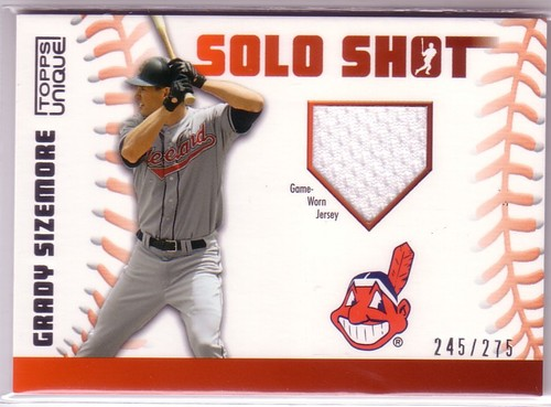 Photo of 2009 Topps Unique Solo Shot Relics #GS Grady Sizemore