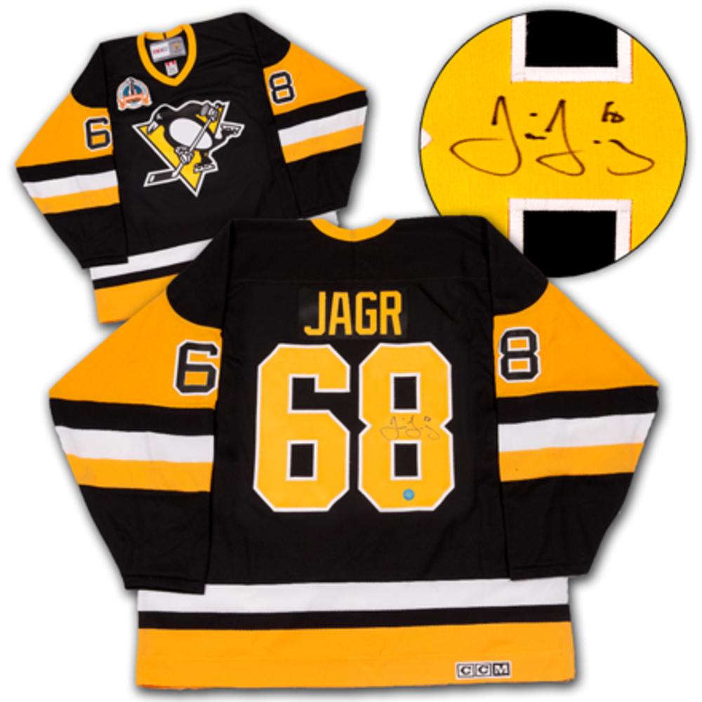 Jaromir Jagr Pittsburgh Penguins Autographed 1992 Stanley Cup Retro CCM Jersey
