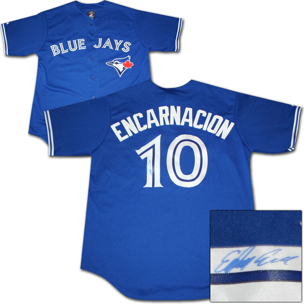 the latest 52b9a 0a98d Edwin Encarnacion Autographed Toronto Blue Jays Jersey - NHL ...
