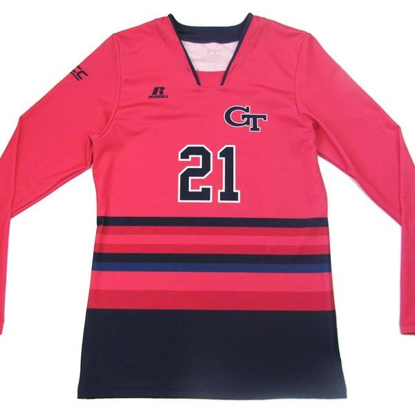 Photo of Georgia Tech 2016 Women's Volleyball Pink #21 Game Worn Jersey (M)