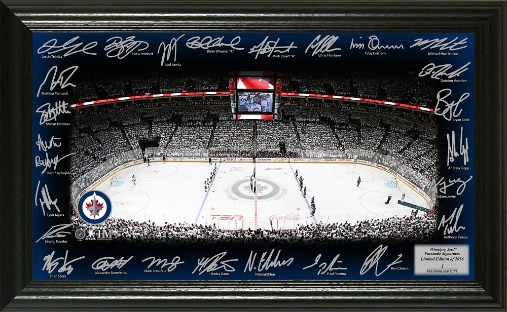 Serial #1 Winnipeg Jets Signature Rink