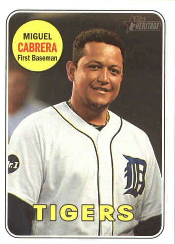 Photo of 2018 Topps Heritage #40 Miguel Cabrera