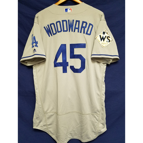 Photo of Chris Woodward 2017 Road World Series Team-Issued Jersey