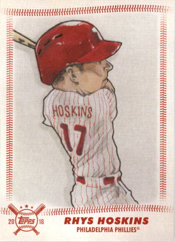 Photo of 2018 Topps Big League Star Caricature Reproductions #SCRRH Rhys Hoskins
