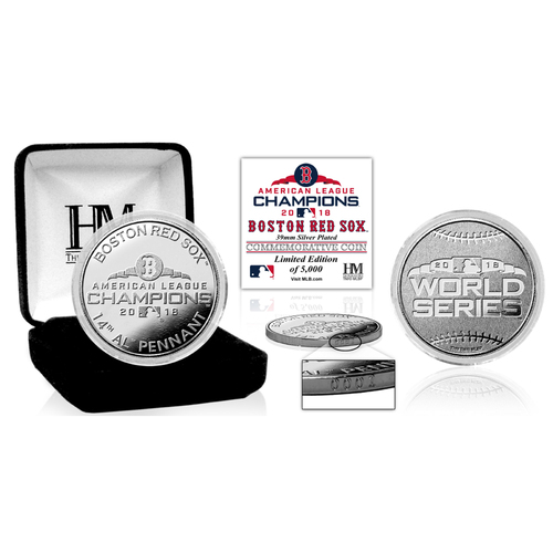 Photo of Boston Red Sox 2018 AL Champions Silver Mint Coin