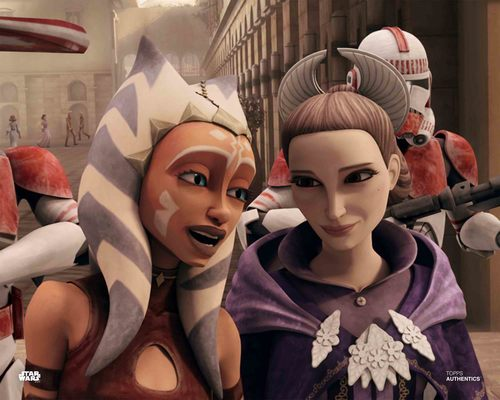 Ahsoka Tano and Padme Amidala
