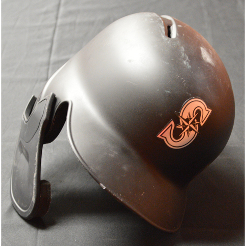 "Photo of Mallex ""WATER"" Smith Seattle Mariners Game-Used 2019 Players' Weekend Helmet"