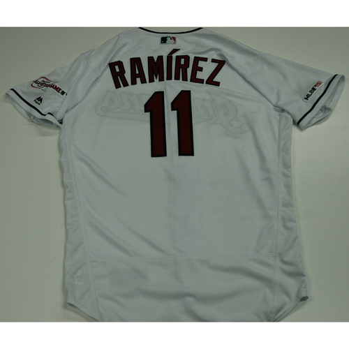 Photo of Jose Ramirez 2019 Team Issued Home White Jersey
