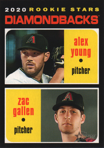 Photo of 2020 Topps Heritage #93 Zac Gallen RC/Alex Young RC