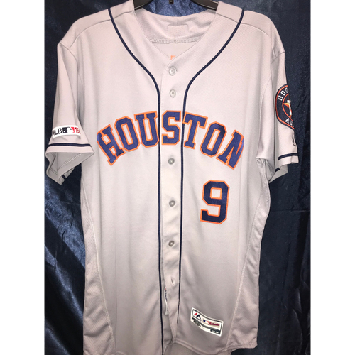 Photo of 2019 Game-Used Jack Mayfield Road Gray Jersey (Size 44)