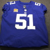 Crucial Catch - Giants Zak DeOssie Game Used Jersey W/ Captains Patch Washed By Equipment Manager (October 7th