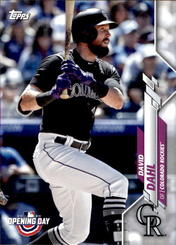 Photo of 2020 Topps Opening Day #52 David Dahl