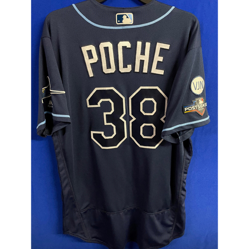 Photo of Game Used WC & ALDS Postseason Jersey: Colin Poche - Rookie Season - October 2, 2019 at OAK & October 4 & 10, 2019 at HOU