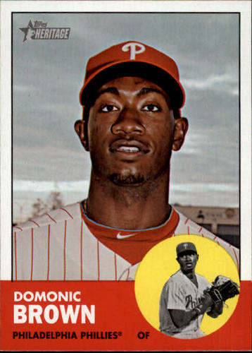 Photo of 2012 Topps Heritage #32A Domonic Brown
