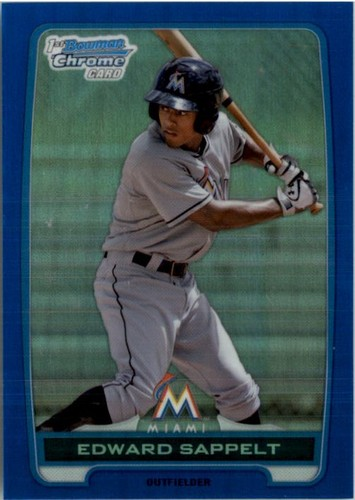 Photo of 2012 Bowman Chrome Draft Draft Picks Blue Refractors #BDPP158 Edward Sappelt