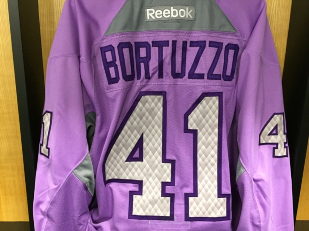 61e0ce28 coupon for robert bortuzzo hockey fights cancer jersey st. louis blues  bcdec 49076