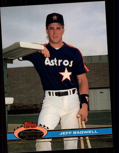 Photo of 1991 Stadium Club #388 Jeff Bagwell Rookie Card Hall of Fame Class of 2017