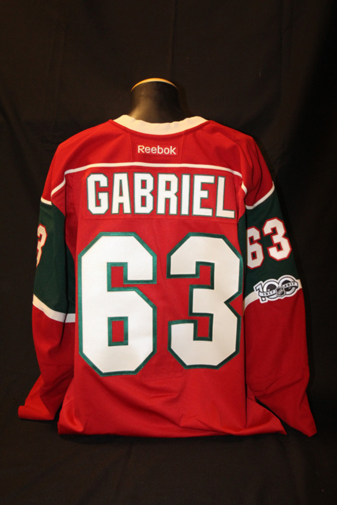 Authentic Red #63 Kurtis Gabriel Jersey