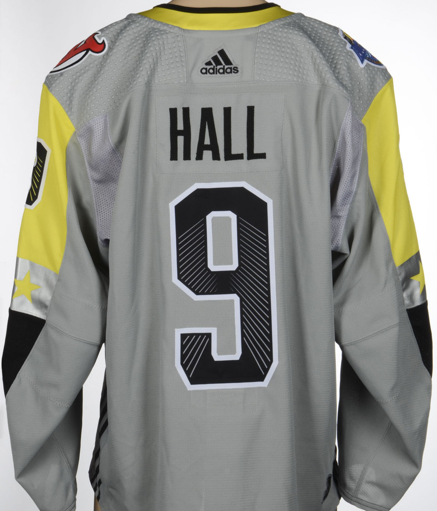 timeless design 4d964 0269f Taylor Hall New Jersey Devils Game-Issued 2018 All-Star Game ...