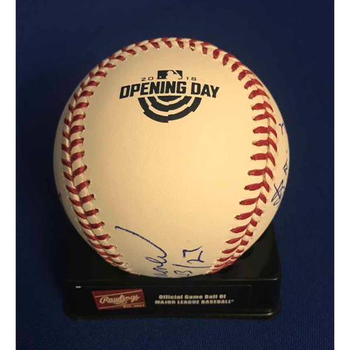 Photo of UMPS CARE AUCTION: Miami Marlins Opening Day Baseball Signed by Umpire Crew - NOT MLB Authenticated