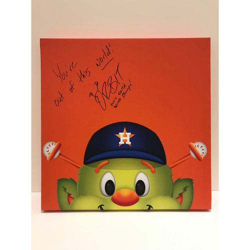 Photo of Autographed Orbit Canvas Print - Astros