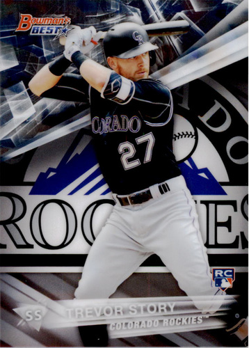 Photo of 2016 Bowman's Best #12 Trevor Story Rookie Card