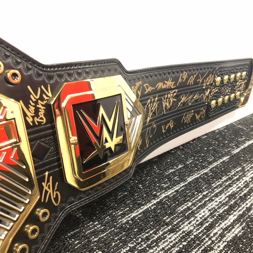 Autographed NXT Championship Replica Title Belt (Signed by male roster)