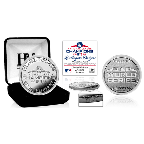Photo of Los Angeles Dodgers 2018 NL Champions Silver Mint Coin