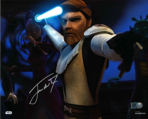James Arnold Taylor As Obi-Wan Kenobi 8X10 Autographed in Silver Ink Photo