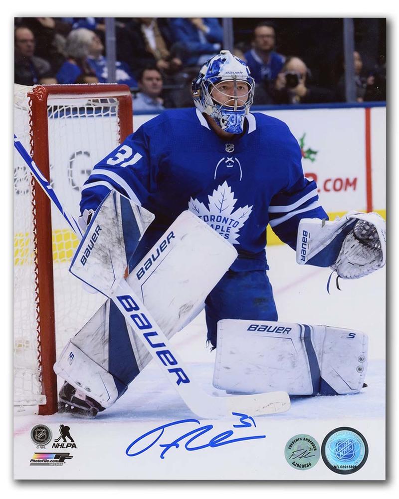 Frederik Andersen Toronto Maple Leafs Autographed Goalie Action 8x10 Photo