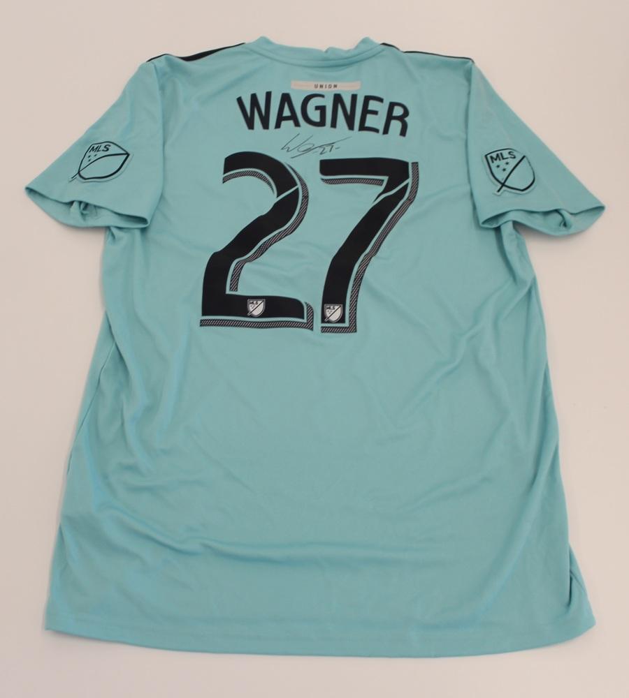 Kai Wagner Philadelphia Union Used, Signed 2019 Adidas Parley Jersey