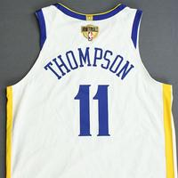 Klay Thompson - Golden State Warriors - 2019 NBA Finals - Game 3 - Game-Worn White Association Edition Jersey - Dressed, Did Not Play