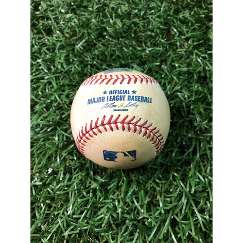 Photo of 2008 Game Used Autographed Baseball: Scott Kazmir - September 26, 2008 at DET