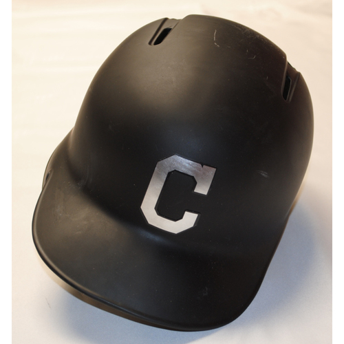 "Photo of Jason ""Dirtbag"" Kipnis Cleveland Indians Game-Used 2019 Players' Weekend Helmet"