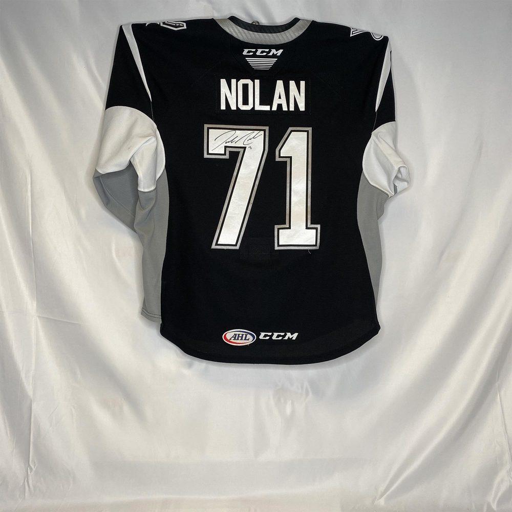 2019-20 San Antonio Rampage Captain's Jersey Worn and Signed by #71 Jordan Nolan