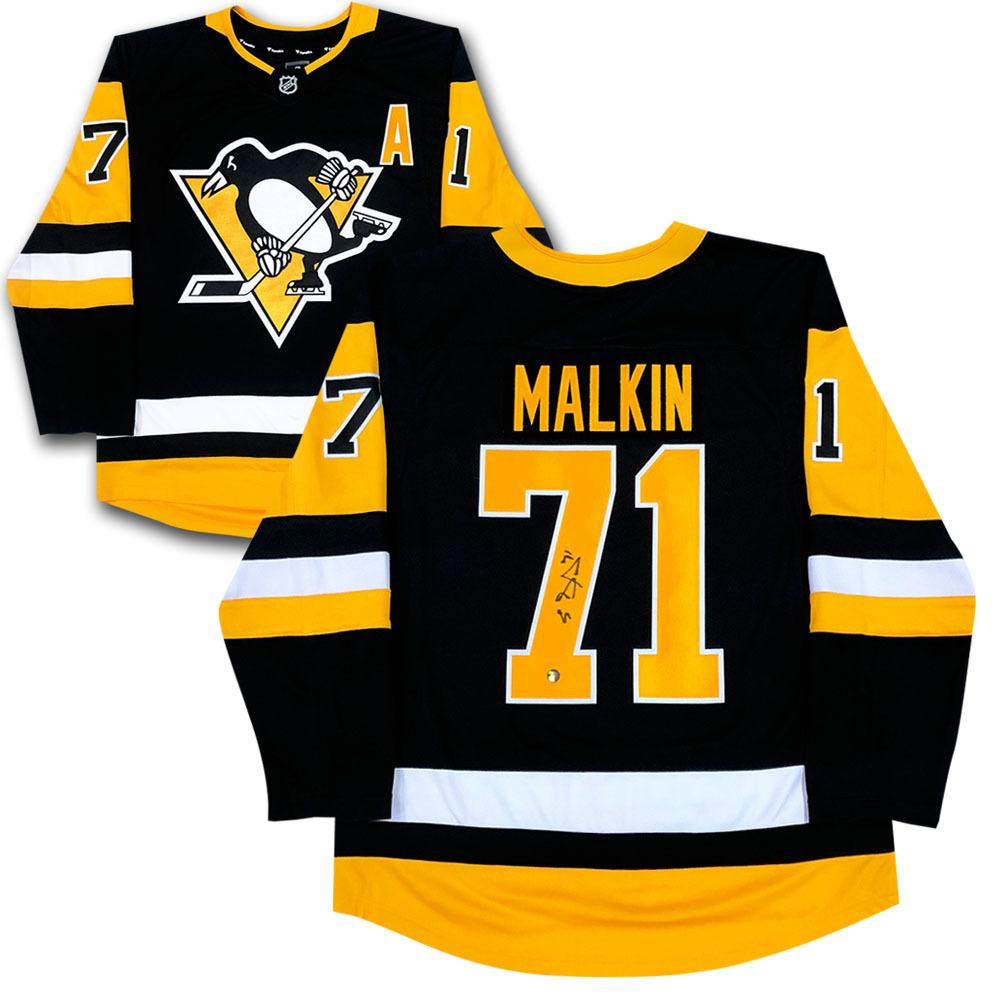 Evgeni Malkin Autographed Pittsburgh Penguins Fanatics Jersey