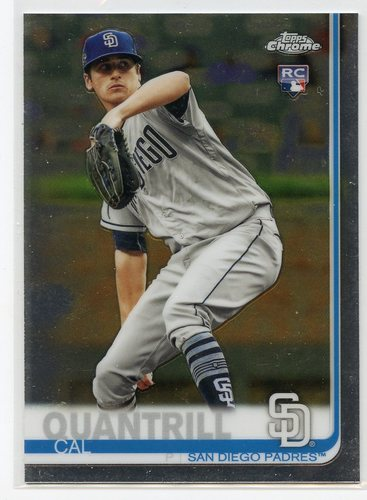Photo of 2019 Topps Chrome Update #33 Cal Quantrill RC