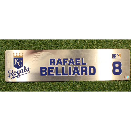 Photo of Game-Used Locker Tag: Rafael Belliard #8 (DET @ KC 9/24/20)