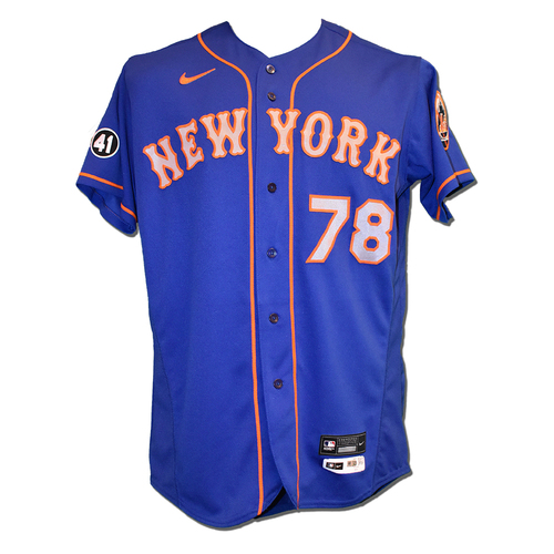 Eric Langill #78 - Team Issued Blue Alt. Road Jersey with Seaver Patch - 2020 Season