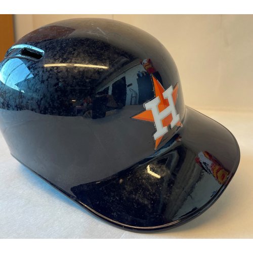Photo of Jose Altuve 2015 Postseason Game-Used Batting Helmet