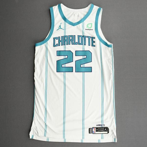 Image of Vernon Carey Jr. - Charlotte Hornets - Kia NBA Tip-Off 2020 - Game-Worn Association Edition Jersey - Dressed, Did Not Play (DNP)