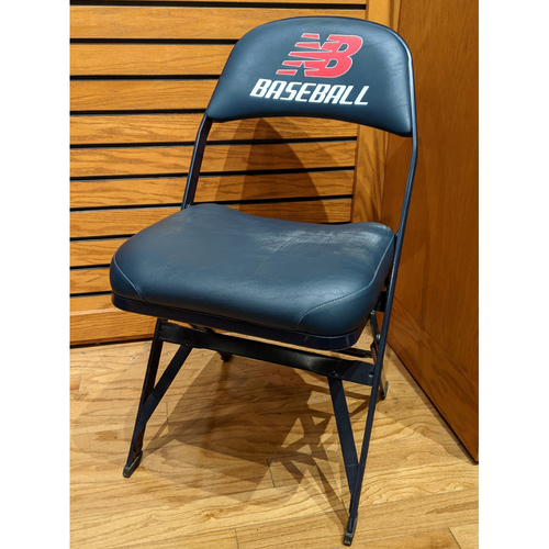 Photo of Fenway Park Visitor's Clubhouse Hisashi Iwakuma Game Used Locker Room Chair